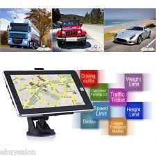 """7"""" NAVIGATORE SATELLITARE GPS 8GB SD MP3 MP4 NAVIGAZIONE CAMION TRUCK AUTO MAPPA"""