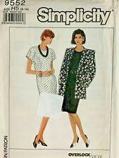 Simplicity Sewing Pattern Uncut Dress Jacket 9552  Size 6-14