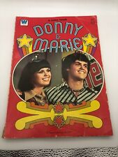1977 Vintage Donnie And Marie Osmond Coloring Book