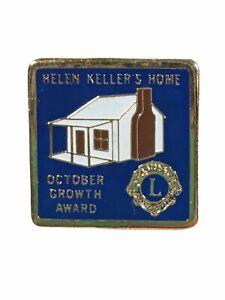 VTG Lions Club Pin Helen Keller's Home October Growth Award Hat Scarf Lapel Pin
