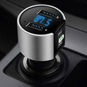 Bluetooth Wireless Car FM Transmitter MP3 Player 2 USB Charger Handsfree Kit UK