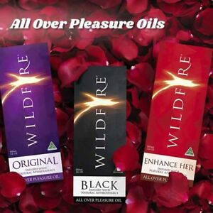 Wildfire All Over Pleasure Oils - Original/Black/Enhance Her