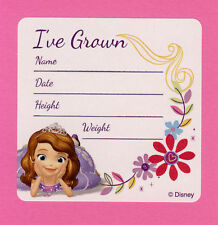 15 Disney Princess Sofia the First I've Grown Height and Weight - Large Stickers