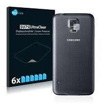 6x Displayschutzfolie Samsung Galaxy S5 (Kamera Rückseite) Schutzfolie Klar