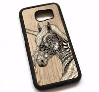 For Samsung Galaxy Note 2 3 4 5 8 Phone Cover Case Unicorn Horse N6250