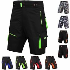 MTB Shorts Men's Bicycle Pants Detachable Compression Padded Short Inculded Camo Grey/white 2001 L