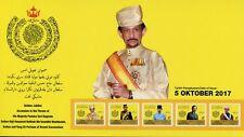 Brunei 2017 MNH Sultan Hassanal Bolkiah Golden Jubilee 5v Booklet Royalty Stamps