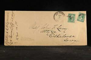 California: Los Berros 1888 #213 (2) Legal Size Cover, DPO San Luis Obispo Co