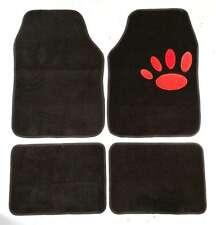 Paw Print Non-Slip Full Carpet Car Floor Well Mats For Ford B-Max Fiesta, Focus,