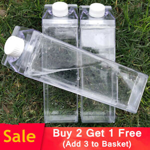 DIY Clear Water Bottle Milk Box Carton Shaped Drinks Boxes UK- Buy 2 Get 1 Free