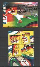 TG551 2014 TOGO SPORT FOOTBALL WORLD CUP CHAMPIONS GERMANY GOLD TEXT KB+BL MNH