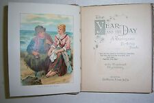 THE YEAR AND THE DAY Tennyson Birthday Book 1904, 12 colored illustrations
