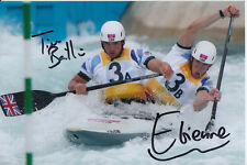 TIM BAILLIE AND ETIENNE STOTT HAND SIGNED GREAT BRITAIN 6X4 PHOTO.