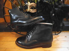 NEW BOXED 100% LEATHER VICTORIAN,FESTIVAL,DOWNTON,STEAMPUNK,GOTH ANKLE BOOTS,SZ5