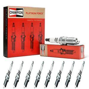 8 Champion Platinum Spark Plugs Set for CADILLAC SRX 2007-2009 V8-4.6L