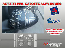 ADESIVI PER CALOTTE SPECCHIETTI ALFA ROMEO 159 147 156 giulia giulietta mito