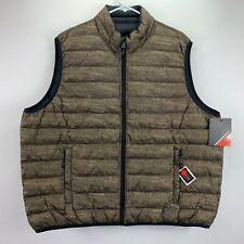 Hawke & Co Mens Reversible Packable Down Filled Vest Tan Black 2XL