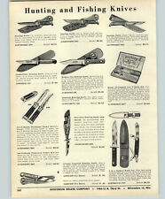 1956 PAPER AD Hunting Knife Knives Kutmaster USA Outdoor Sportsman Ranger Axe