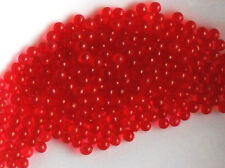 Ballotini Glass Balls Beads, 2 1/2mm Eyes No Hole Marbles Solid Red Ruby #1391D