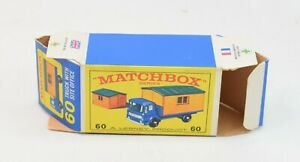 Matchbox Lesney No 60 Truck With Site Office Original Box Only.