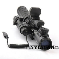 3-9X32EG Rifle Scope Sight+1x22x33 Red Dot Holographic Sight +Red Laser+Mount