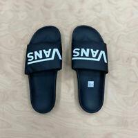 Vans Authentic Slide ON Sandals VN0004LGX0Z Black White Old Skool Mens