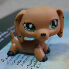 LPS Snowflake Eyes Dotty Dachshund dog pubby Action Figure LITTLEST PET SHOP