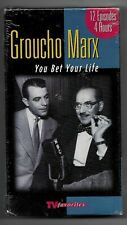 Groucho Marx VHS Tape - TV Favorites Shows / 12 Episodes You Bet Your Life NEW