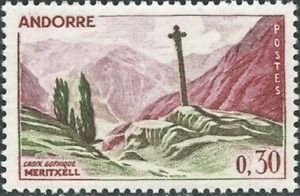 French Andorra #148 MNH Gothic Cross