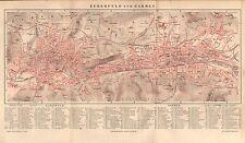 Elberfeld und Barmen historischer Stadtplan mit Register 1894  (  WUPPERTAL )