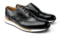 IVAN TROY Jamal Black Lace Up Italian Leather Dress Shoes/Oxford Office Shoes