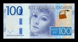B-D-M Suecia Sweden 100 Kronor Greta Garbo 2016 (2018) Pick 71b SC UNC