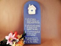 Plaque Humorous Mother's Tantrum Promise Wall Hanging Wooden Sign Hand Painted
