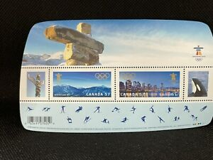 2010 Canada Stamp Souvenir Sheet VANCOUVER Winter Olympic Games, 2x57c Stamps