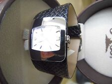 Tommy Bahama TB 2041 Ladies Wide Woven Black Band Watch
