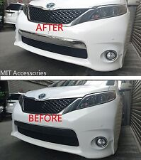 TOYOTA SIENNA 2011-2017 front bumper LICENSE cover chrome garnish trim-SE