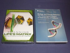 Teaching Co Great Courses  DVDs       BIOLOGY and  HUMAN BEHAVIOR    new + BONUS