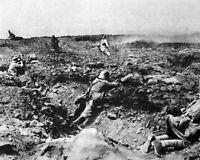 New 8x10 World War I Photo: German Infantry on an Unknown Battlefield, 1914