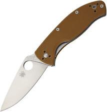 Spyderco Tenacious Brown G10 Plain Knife C122GPBN