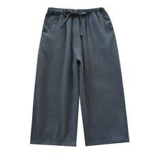 Men Cotton Gauze Shorts Pants Trouser Loose Soft Sleepwear Nightwear Bottom Cosy