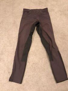 Ladies Ariat Breeches 28 Long Suede Bottom Plum Colour