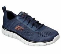 Skechers Navy Shoes Men's Memory Foam Mesh Sporty Comfort Casual Athletic 232081