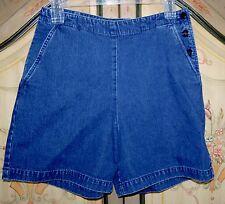 Lauren Ralph Lauren Nautical Denim Jeans Sailor Shorts Size 6