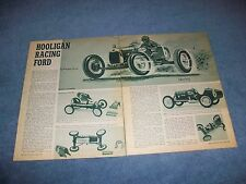 "Ford T-Roadster Vintage 1/25th Scale Model Article ""Hooligan Racing Ford"""