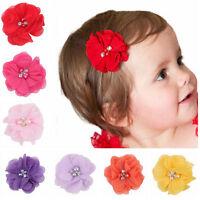 1 Pcs Cute Baby Chiffon Flower Hair Clips Beautiful Girls Hair Accessories YA