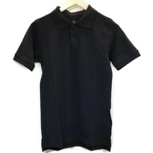 Dockers Boys Polo Shirt Navy Blue Short Sleeve Cotton Uniform Large 14/16