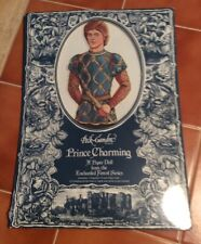 """Vintage 1987 Prince Charming Paper Doll 12"""" Peck-Gandre Enchanted Forest Series"""
