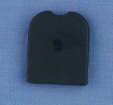 12mm Black Boning End Caps (x 4)