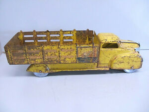 """1940's MARX Coca Cola stakebed Truck project w/ new grill new steel wheels 20"""""""