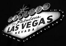 B & w impresión de bienvenida a las Vegas Signo. Arte y fotografía Cartel Imagen
